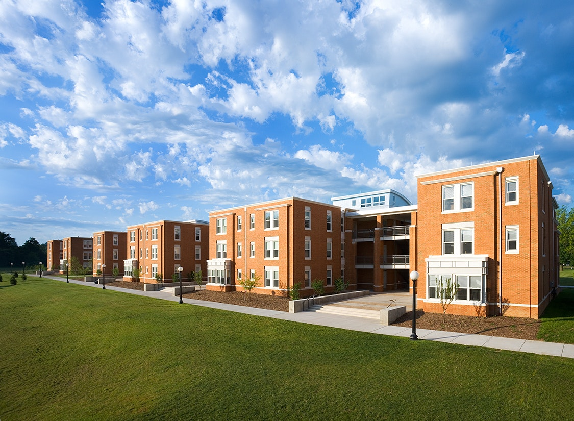 The college viewed the 44 apartment-style units as housing for upper-class students, offering them a transitional living experience between a typical residence hall and off-campus housing.